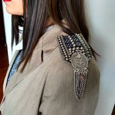 Sewing Sleeves, Shoulder Jewelry, Shoulder Pads, Blazer, Embroidery, Boho, Hoodies, Jackets, Closet