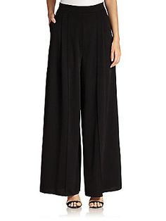 ABS Pleated Palazzo Pants