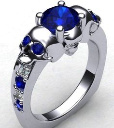 #Skull engagement ring