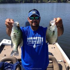 """Clint Ward says, """"Couple of Toledo bend """"sac a lait""""!! One black and one white crappie ! Thanks for the reply ,crappie crazy til I die!"""""""
