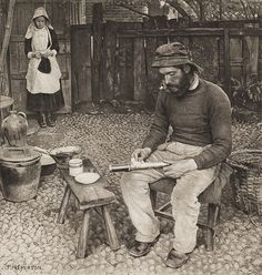 A Fisherman at Home   Emerson, Peter Henry, b.1856-1936  Pictures from Life in Field and Fen, 1887