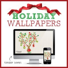 #MichaelsStores #holiday wallpaper Reindeer Games