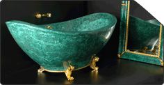 malachite green bath tub - Google Search