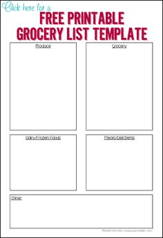 3 FREE printable grocery templates - Ask Anna