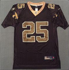 6e17c20a898d9 Reggie Bush New Orleans Saints Replica Jersey Size Medium Black Reebok NFL  USC