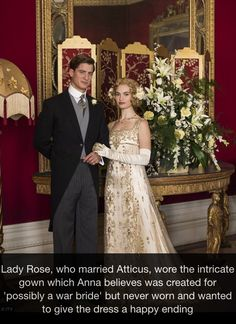 Delightful story about Lady Rose's dress, as is her relationship with Atticus!