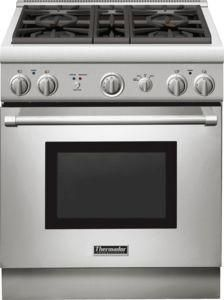 Thermador PRO Harmony Series 30 in. Freestanding Gas Range, Sealed Cooktop, Convection Oven, Fastest Boil in Stainless Steel Pro Cook, Slide In Range, Electric Oven, Ventilation System, Oven Racks, Kitchen Appliances, Kitchen Ranges, Kitchen Cabinets, Kitchen Remodel