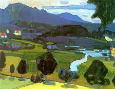 "alongtimealone: "" Wassily Kandinsky (1866-1944) View over the Staffelsee (1908) """