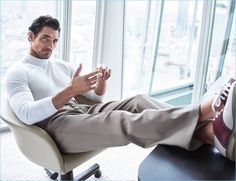 A chic vision, David Gandy stars in a photo shoot for Código Único.