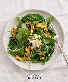 I'm always looking for new salad suggestions that will float my boat. This miso sesame squash salad takes the sails!