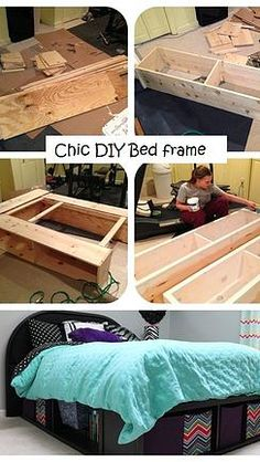 Kaila's Place| DIY Bed with storage