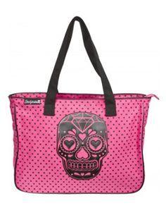 pink skull purse