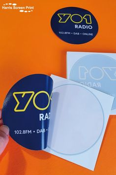 YO1 Radio car window stickers printed onto selfadhesive vinyl. These round car window stickers are bright and bold with the YO1 Radio logo taking centre stage. Each window sticker is supplied kiss-cut to circle shape on its own backing, ideal for handing out or posting out to listeners of YO1 Radio. Checkout our dedicated website page for radio station car window stickers to find out more about promoting radio stations on the move with car window stickers. Car Window Stickers, Circle Shape, Screen Printing, Sunglasses Case, How To Find Out, Radio Stations, Shapes, Centre, Kiss