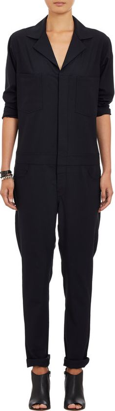 Navy Jumpsuit by 6397. Buy for $595 from Barneys New York