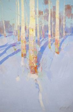 Winter Time, Landscape oil Painting, One of a Kind