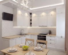 Compact Living, Living Room Kitchen, Ideal Home, Kitchen Design, Interior Design, Table, House, Inspiration, Furniture