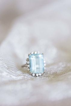 To be in style with Pantone's 2016 Serenity Color of the Year, choose a gorgeous Blue Aquamarine Engagement Ring