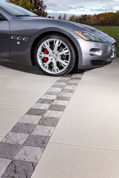 Concrete Pavers, Home Landscaping, Outdoor Living, Home Improvement, Backyard, Driveways, Contemporary, Long Island, Car