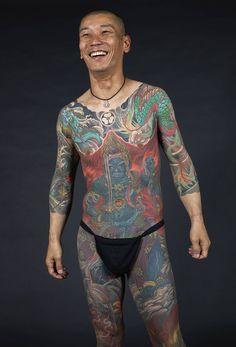 Modern-day irezumi: full bodysuit tattooed by Shige #Japan