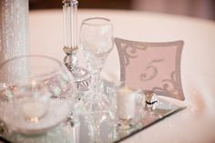 Table numbers in glitter