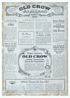 Old Crow Almanac 1958 Ad Picture