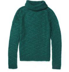 Balmain Mohair-Blend Rollneck Sweater | MR PORTER
