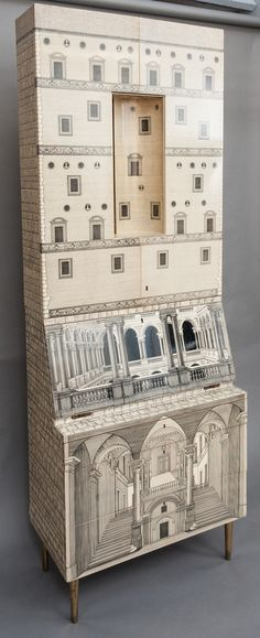A Rare and Early Trumeau by Piero Fornasetti, Collaborating with Gio Ponti. image 2