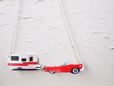 Travel+Retro+Style+Camper+Trailer+Car+Red+and+by+whatanovelidea,+$29.00