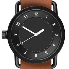 No.1 by Form Us With Love for TID, black face, tan leather strap