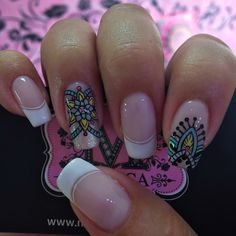 Cute Nails, Pretty Nails, My Nails, Mandala Nails, Magic Nails, Finger Painting, Cute Nail Designs, Cool Nail Art, Manicure And Pedicure
