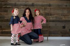 red stripe and denim set for matching family ideas!