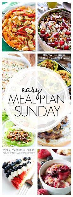 Week 51. 6 dinner ideas, one-weekend breakfast plus 2 desserts every single week equals one heck of a delicious menu!