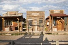 Photo about Old West storefronts, Ridgway, Colorado. Image of memories, facade, rural - 35471712 Shed Plans 8x10, Free Shed Plans, Building Front, Building Plans, Old West Town, Old Town, Western Saloon, Western Style, Old West Saloon
