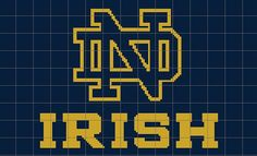 I HAVE TO MAKE THIS!!!  My Aunt has requested it.  Fighting Irish Crochet Graph/Chart Pattern