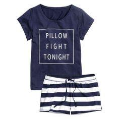 H&M Jersey pyjamas Cute Pjs, Cute Pajamas, Lazy Day Outfits, Cute Outfits, Lingerie Sleepwear, Nightwear, Pajamas All Day, Mode Inspiration, Pajama Set