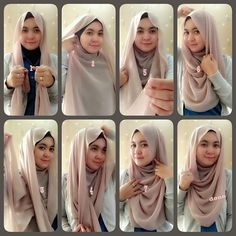loose full coverage hijab tutorial (think uses square scarf