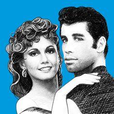 #FilmGibiAşklar: John Travolta ve Olivia Newton-John. Aşkın neşe saçtığını gösterdiler! #JohnTravolta #OliviaNewton  #sevgililergünü #love #aşk #valentinesday
