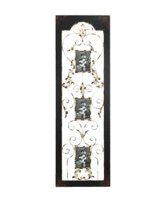 Wooden Wall Panel with Three Photo Frame Space -this wall hanging blends contemporary design with classic details, giving it a distinctive appearance. It features a rectangular profile and is crafted with clean lines that add a neat touch to its appeal. The wall hanging is accented with stunning inlaid work that is artistically crafted to give it an eye catching look.