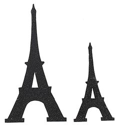 Add a little sparkle and shine to your Paris theme with our Black Glitter Eiffel Tower Cutouts, also in silver.