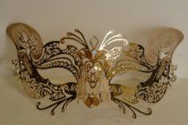 Venetian Gold Mask w/ Metal Fox Laser-cut and Crystals http://astore.amazon.com/us.online.shopping-20/search?node=380=Venetian+mask=12=14=