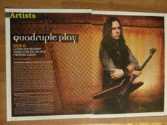 Firewind, Gus G., Two Page Clipping