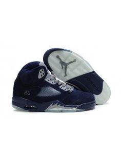 the best attitude a9087 7abf3 Nike Air Jordan 5 V Retro Mens Shoes NavyGrey Shoes Adidas, Jordan Shoes
