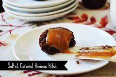 Salted Caramel Brownie Bites » Rachel Cooks
