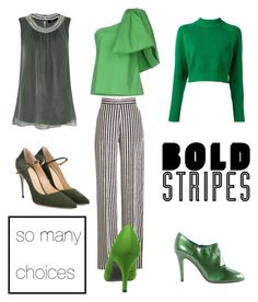 """""""stripes"""" by saturn43210 on Polyvore featuring Etro, DKNY, Rosie Assoulin, Hallhuber, Jennifer Chamandi and Sergio Rossi"""