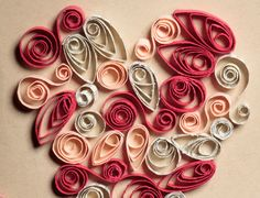 Show details for Valentine Heart Quilling Card