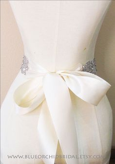 Crystal Sash Wedding Sash Bridal Sash by BlueOrchidBridal on Etsy, $135.00