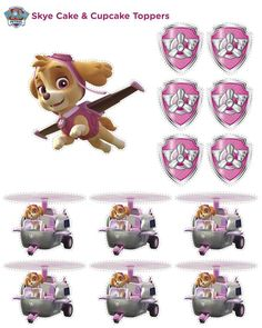 Ideas For Party Games Girls Free Printables Paw Patrol Sky Cake, Girl Paw Patrol Party, Paw Patrol Cupcake Toppers, Paw Patrol Birthday Girl, Paw Patrol Cupcakes, Paw Patrol Toys, Girl Birthday, Birthday Cakes, Paw Patrol Party Decorations