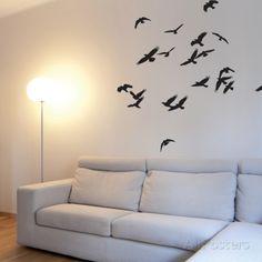 Vliegende vogels Muursticker bij AllPosters.nl