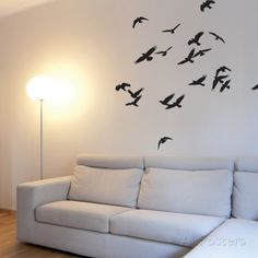 Birds In Flight-Black Wall Decal Black Wall Stickers, Wall Stickers Animals, Diy Home Decor, Room Decor, School Murals, Black Walls, Cool Posters, Dorm Decorations, Wall Decals