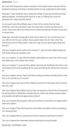 Sirius Black - the marauders